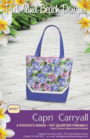 Pink Sand Beach Designs Capri Carryall Tote  PS 127