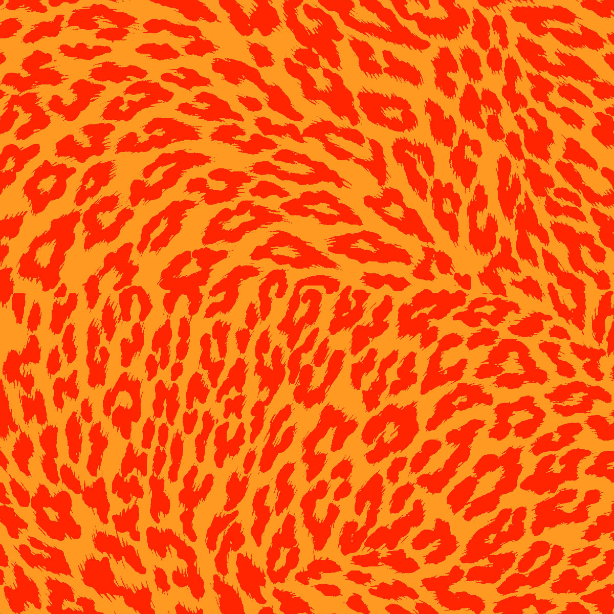 Exclusively Quilters Flip Flop Island 61231-7 Orange/Red Leopard Print - Orange