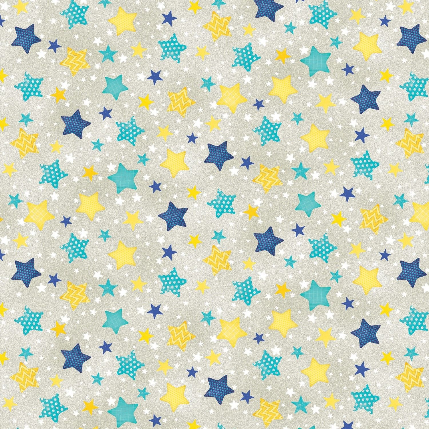 Wilmington Prints To the Moon & Back Flannel 7512-954 Grey with Stars