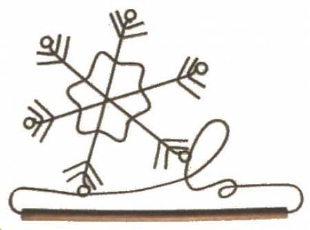 Ackfeld 6 Snowflake Dowel Hanger 86547