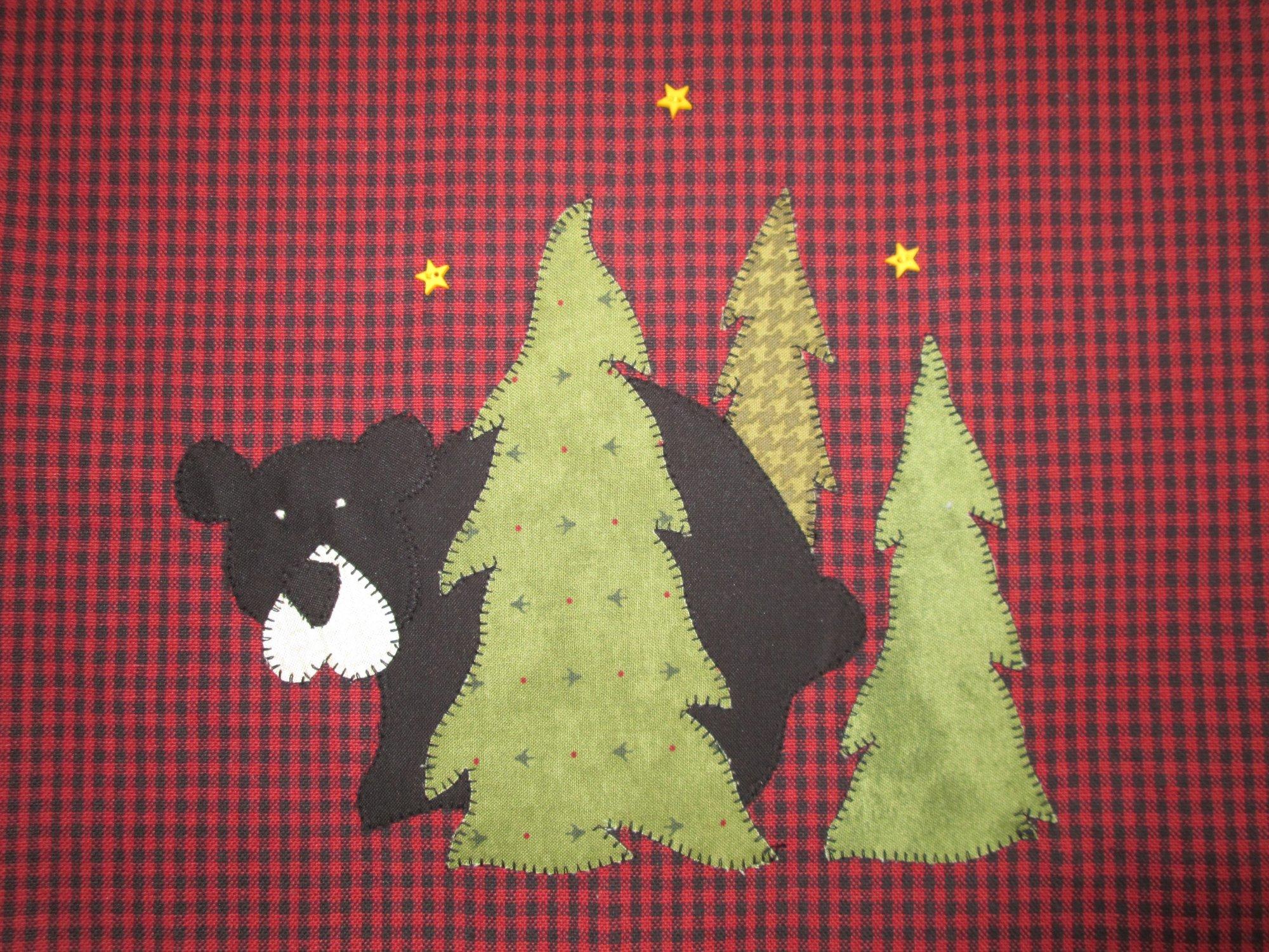 Woodland Bear Tea Towel Kit