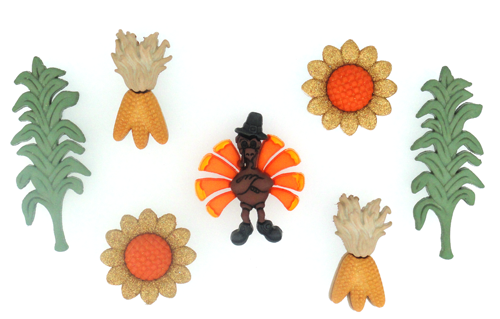 Dress It Up Autumn's Bounty Fall Inspirations 8 buttons 1458