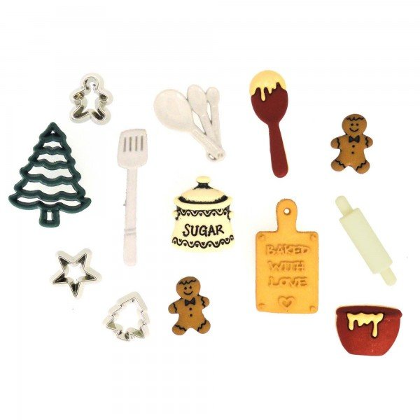 Dress It Up Christmas Cookies 13 buttons JBT2473