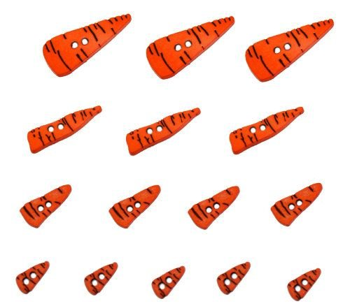 Dress It Up Carrot Noses 4683 12 buttons