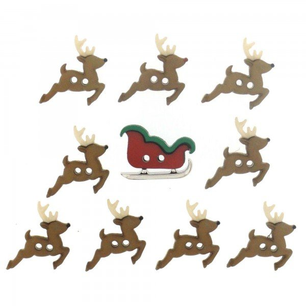 Dress It Up Sew Cute Sleigh/Reindeer 7590