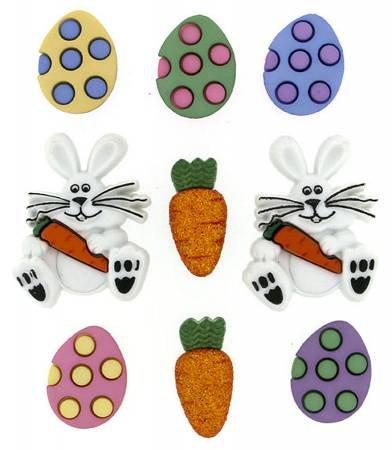 Dress It Up Easter Egg Hunt 9 buttons JBT7709