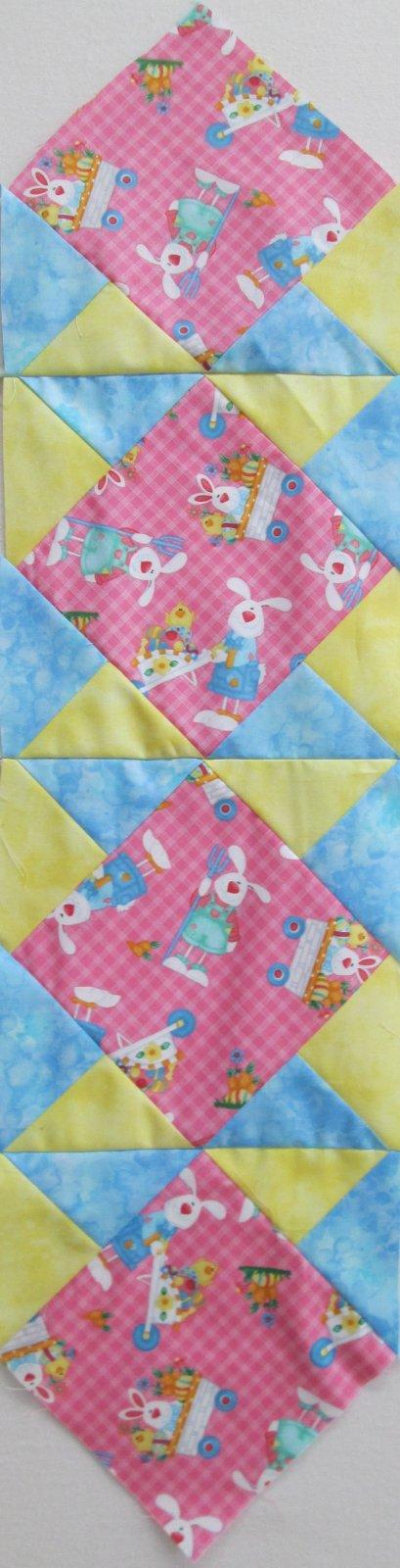 Down On The Bunny Farm Sew 2 Again Table Runner Sample 9 x 40