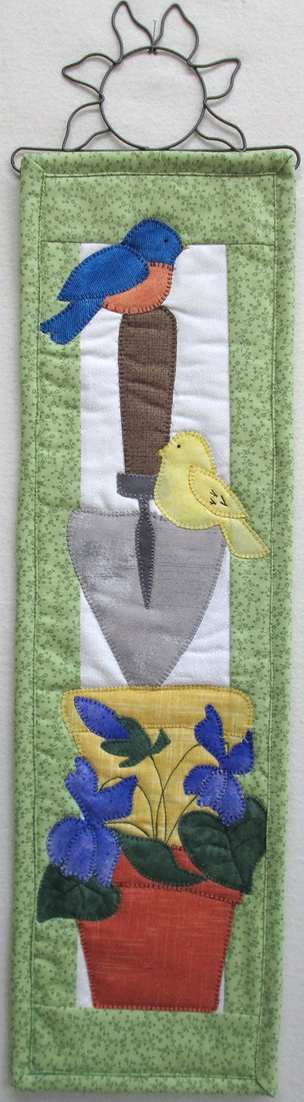 Birds 'n Spring Violets Wall Hanging Kit