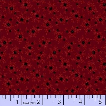 Marcus Pieceful Pines R17-8208-0111 Red tiny flower & leaf branches