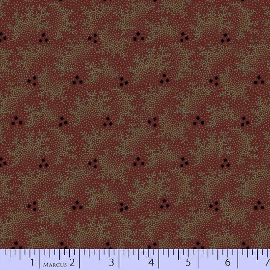 Marcus Pieceful Pines R17-8209-0111 Red berry clusters