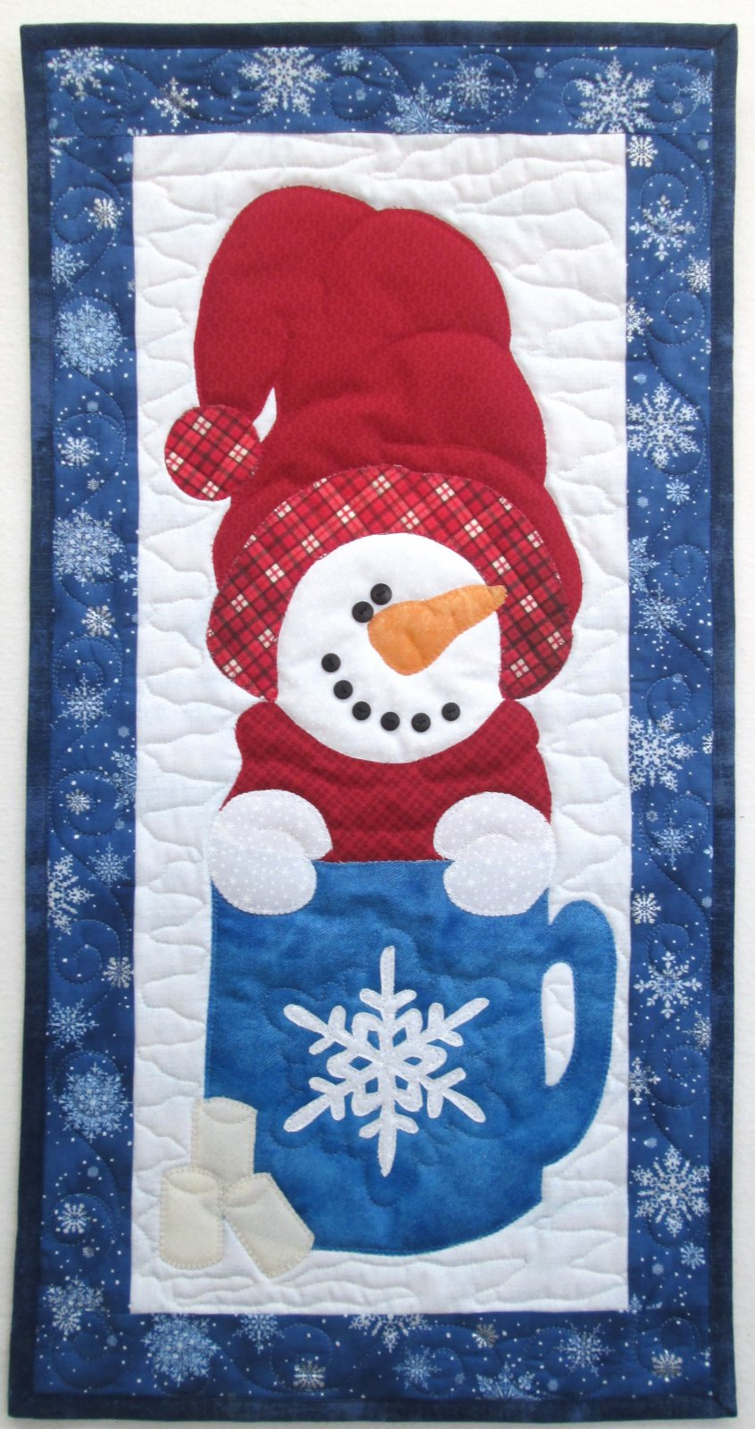 Magical Days Of Winter Snowman Wall Hanging Kit