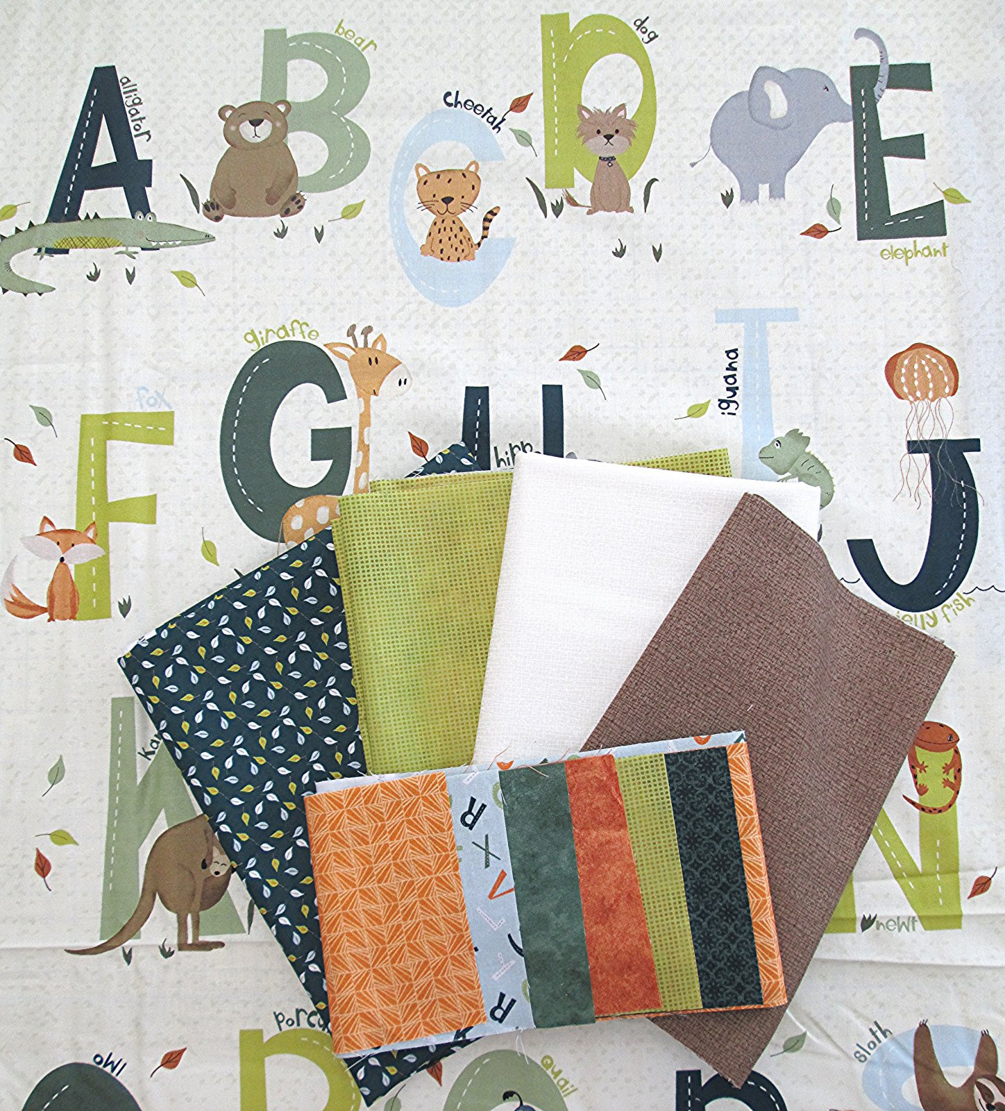 Animal Alphabet Quilt Kit with Kitty Playground Pattern