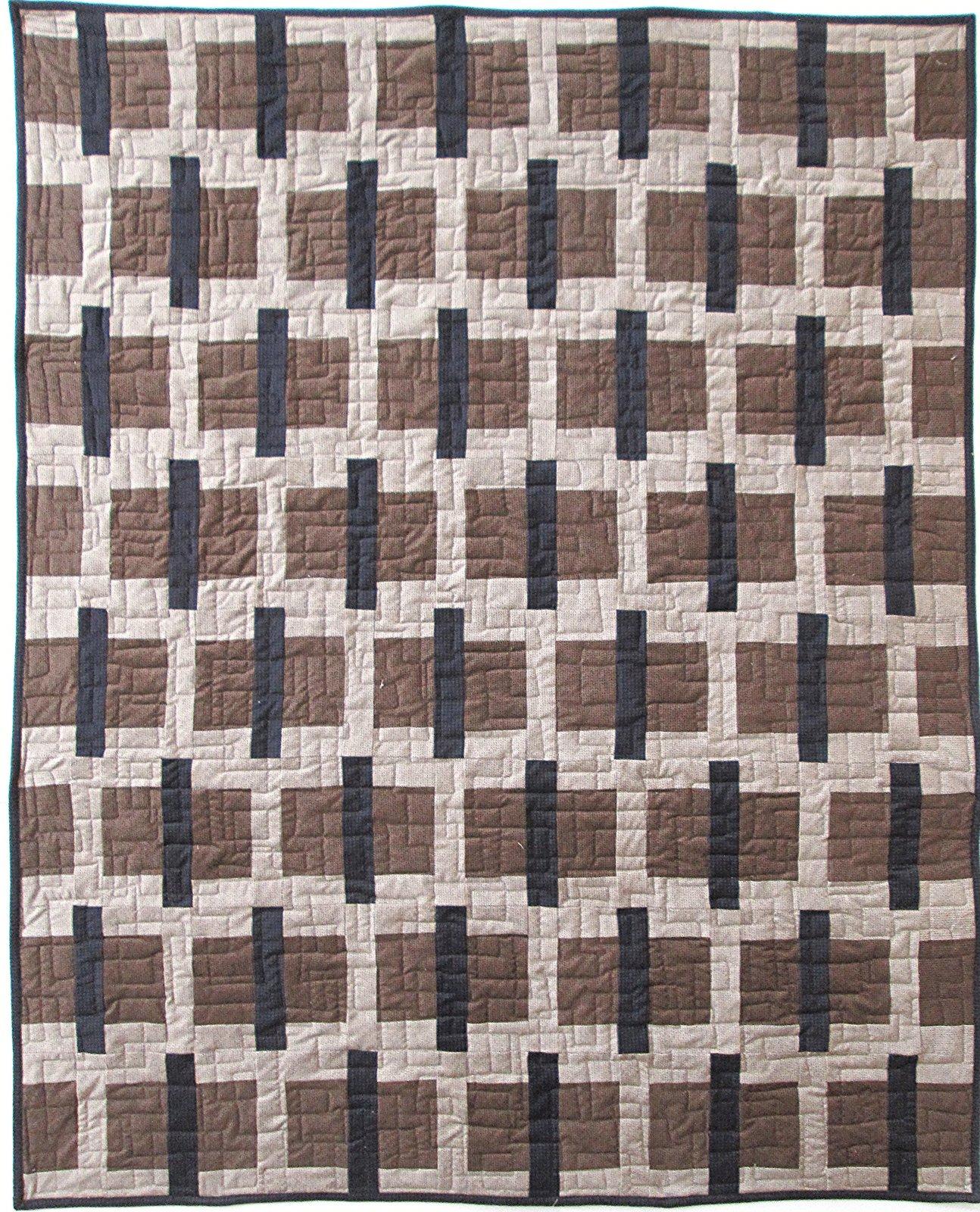 Sticks & Stones Primitive Gathering Farmhouse Flannel Quilt Sample