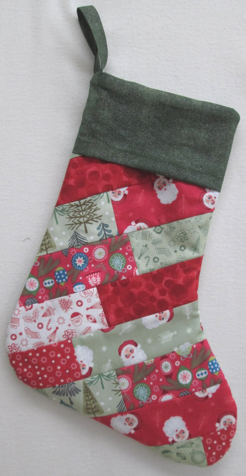 Christmas Trees Santa Socks Stocking Sample