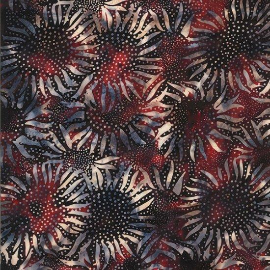 Hoffman Bali Batik 884-209 Patriotic Sunflower