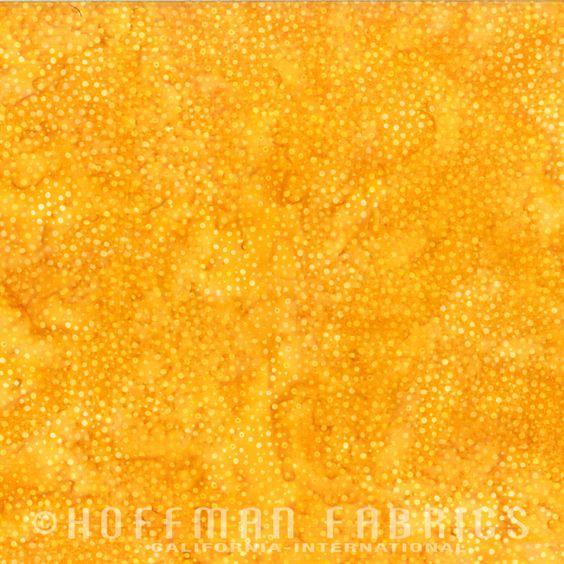 Hoffman Bali Chop 885-150 Yellow Sunflower dots