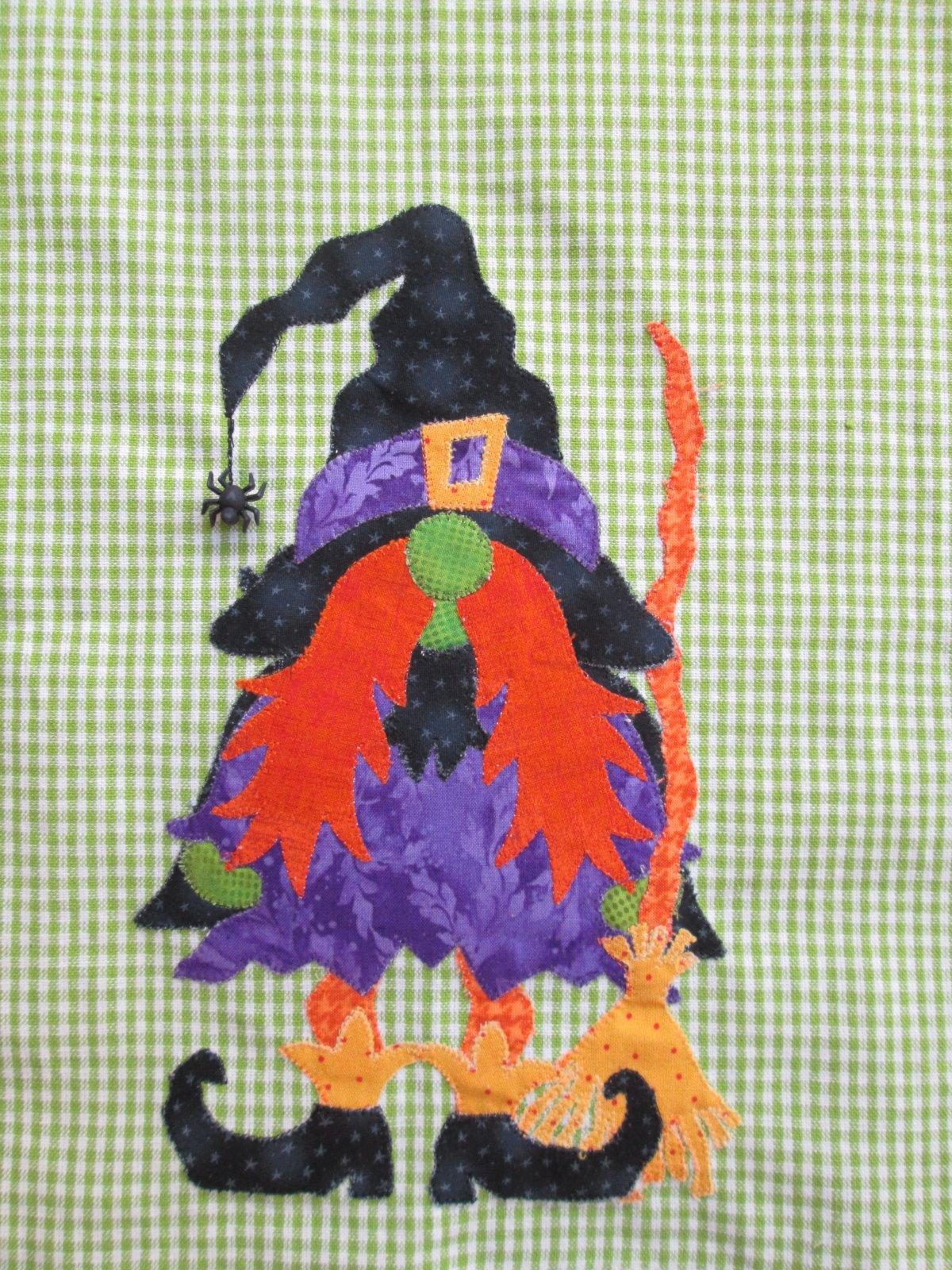 Wanda the Witch Gnome Tea Towel Kit (Autumn Gnomes Pattern)