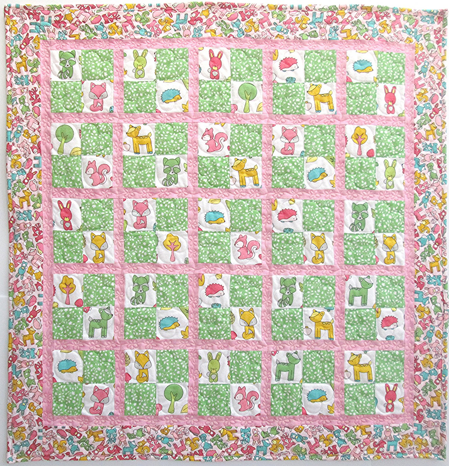 Babe in the Woods Baby Checkers Flannel Quilt Kit - 890462