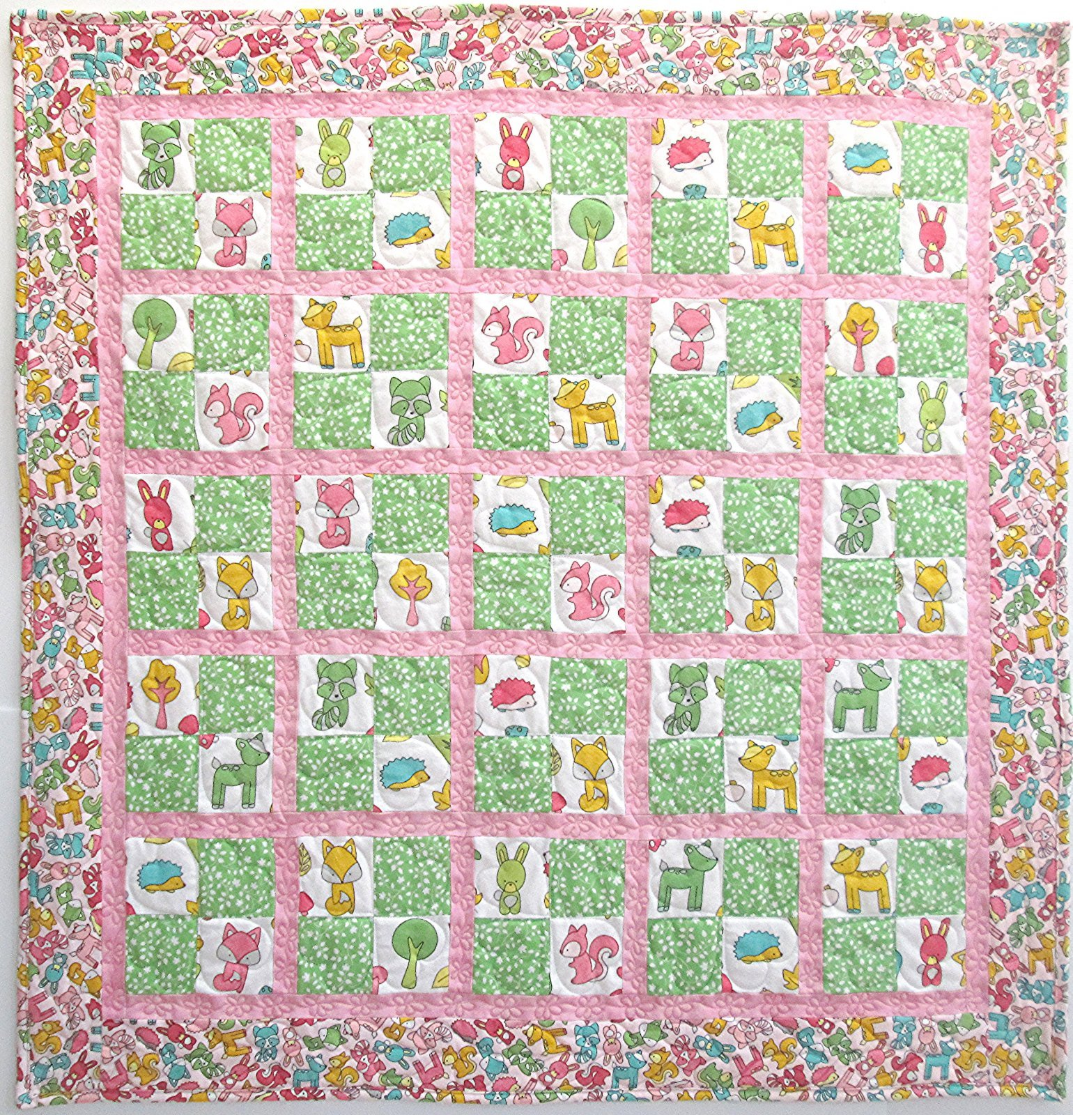 Babe in the Woods Baby Checkers Flannel Quilt Kit