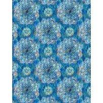 Wilmington Prints Bohemian Dreams 89193-441 Blue Medallion