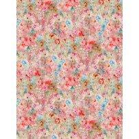 Wilmington Prints Bohemian Dreams 89195-347 Pink & Blue Mottled Flower