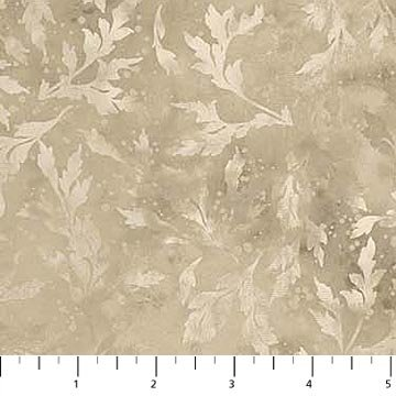 Northcott Essence 9020-14 Oyster Tonal Leafy Branches