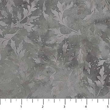Northcott Essence 9020-96 Charcoal Tonal Leafy Branches