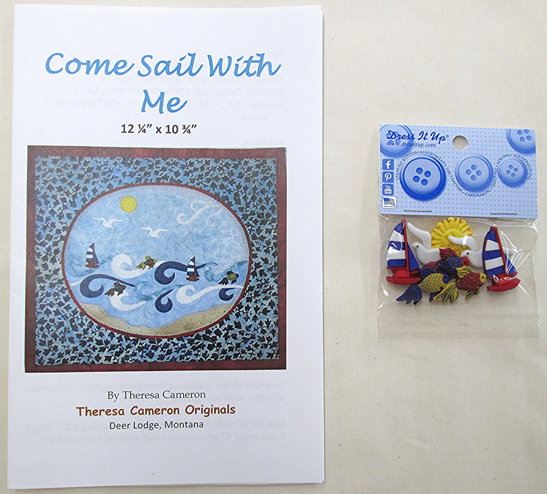 Come Sail with Me Pattern with Buttons