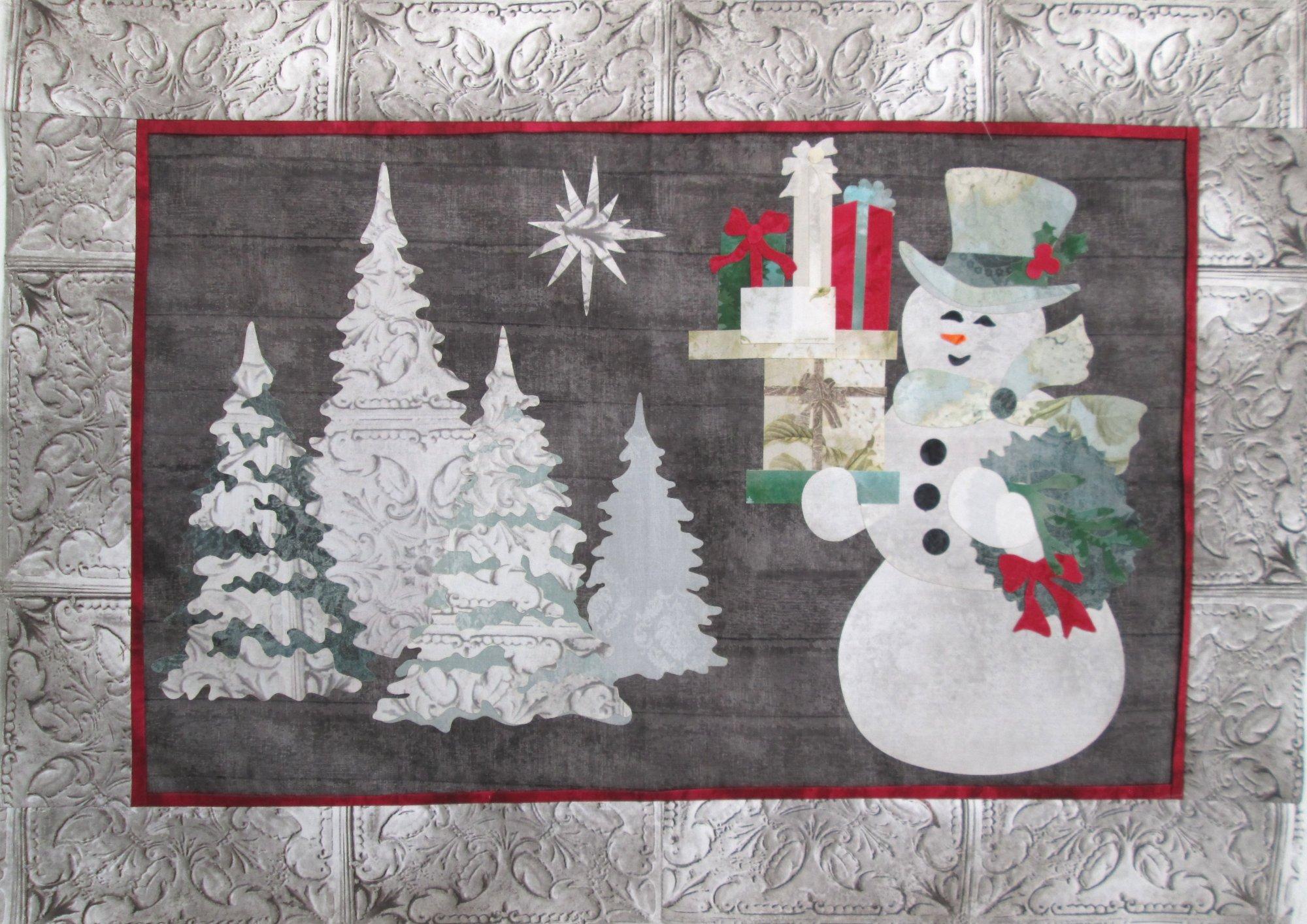 Joyeux Noel Snowman Wall Hanging Sample