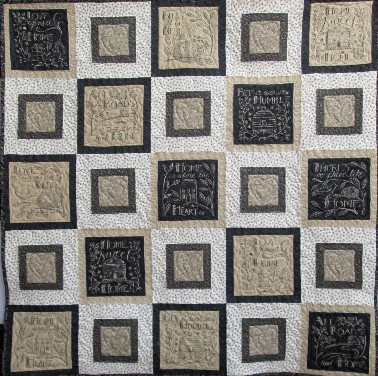 Home Squares Quilt Sample
