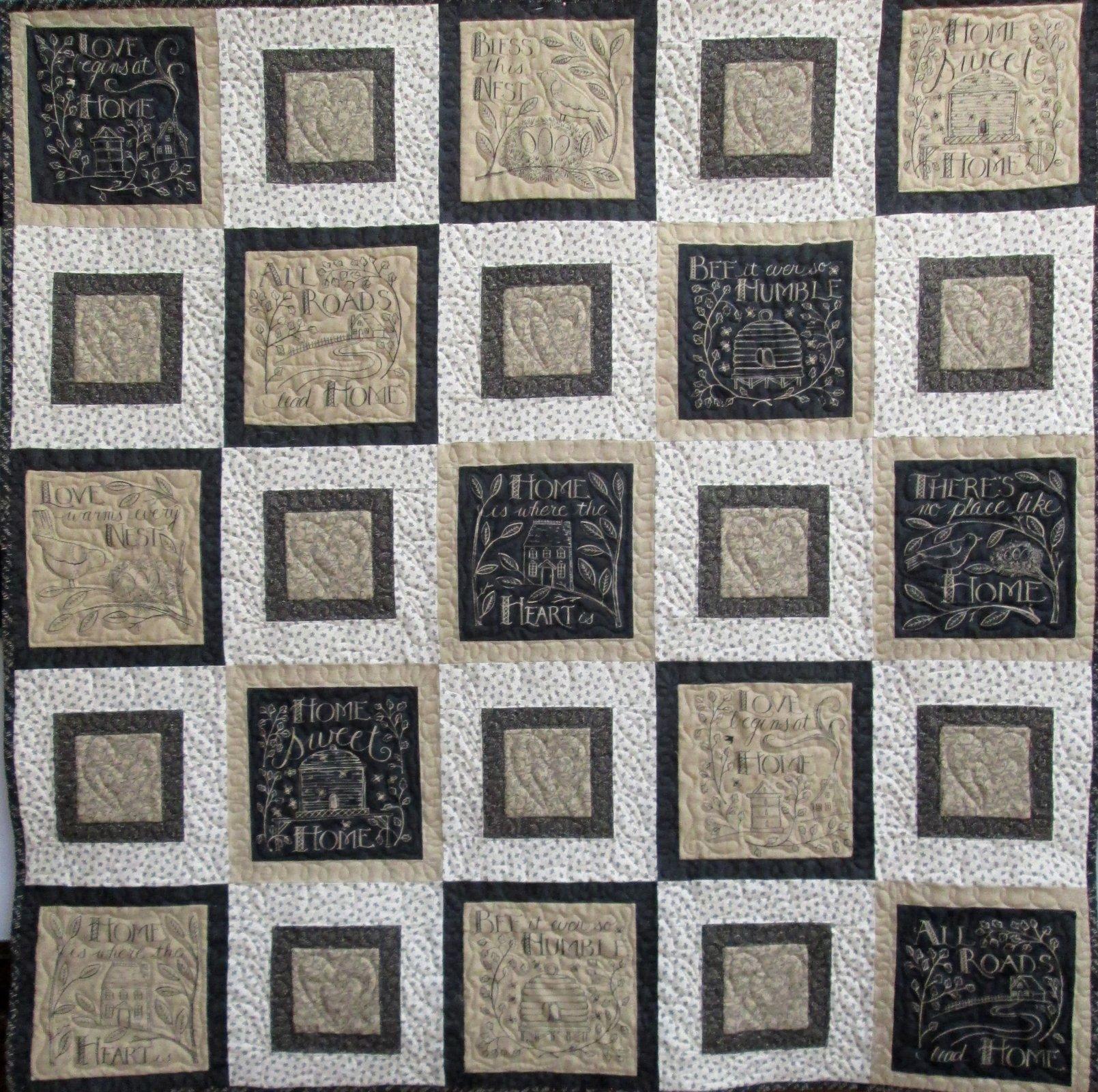 Home Squares Quilt Kit