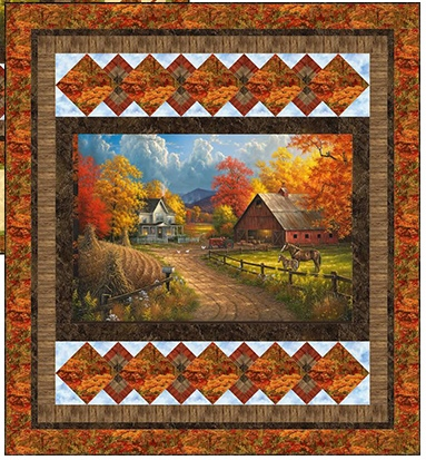 Country Pastimes Picture this Country Throw Quilt Kit