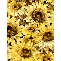 Wilmington Prints  A Bee's Life 96404-952 Larged Packed Sunflowers