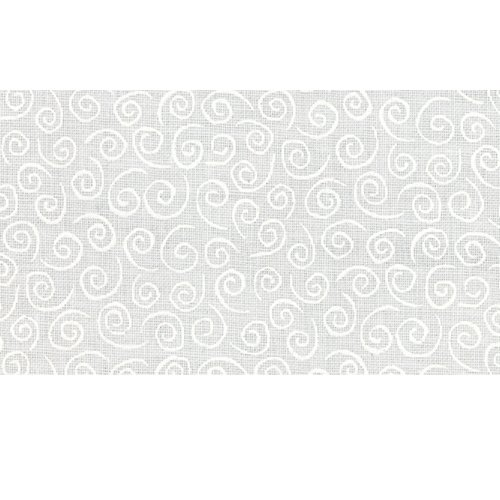 Moda Muslin Mates 9920-11 White on White Curls