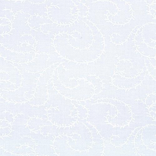 MODA Muslin Mates 9933-11 Swirl Vine white on white