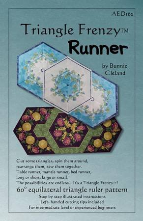 Triangle Frenzy AED162 Runner Table Topper Pattern By Bunnie Cleland for Artistically Engineered Designs