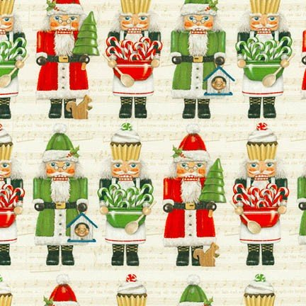 Holly Jolly Christmas Digital Nutcrackers AMK-16655-15 IVORY by Mary  Lake - Thompson