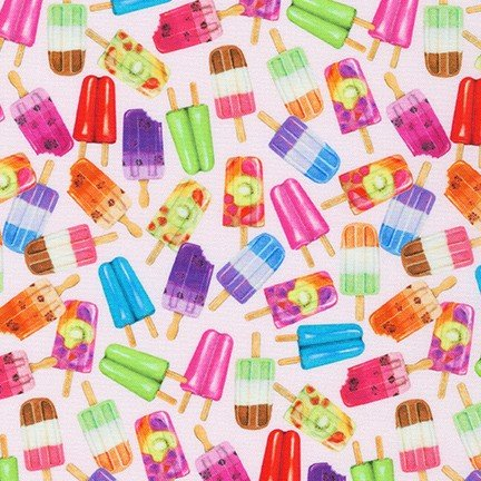Robert Kaufman Sweet Tooth 19828-98 Popsicles on Pink