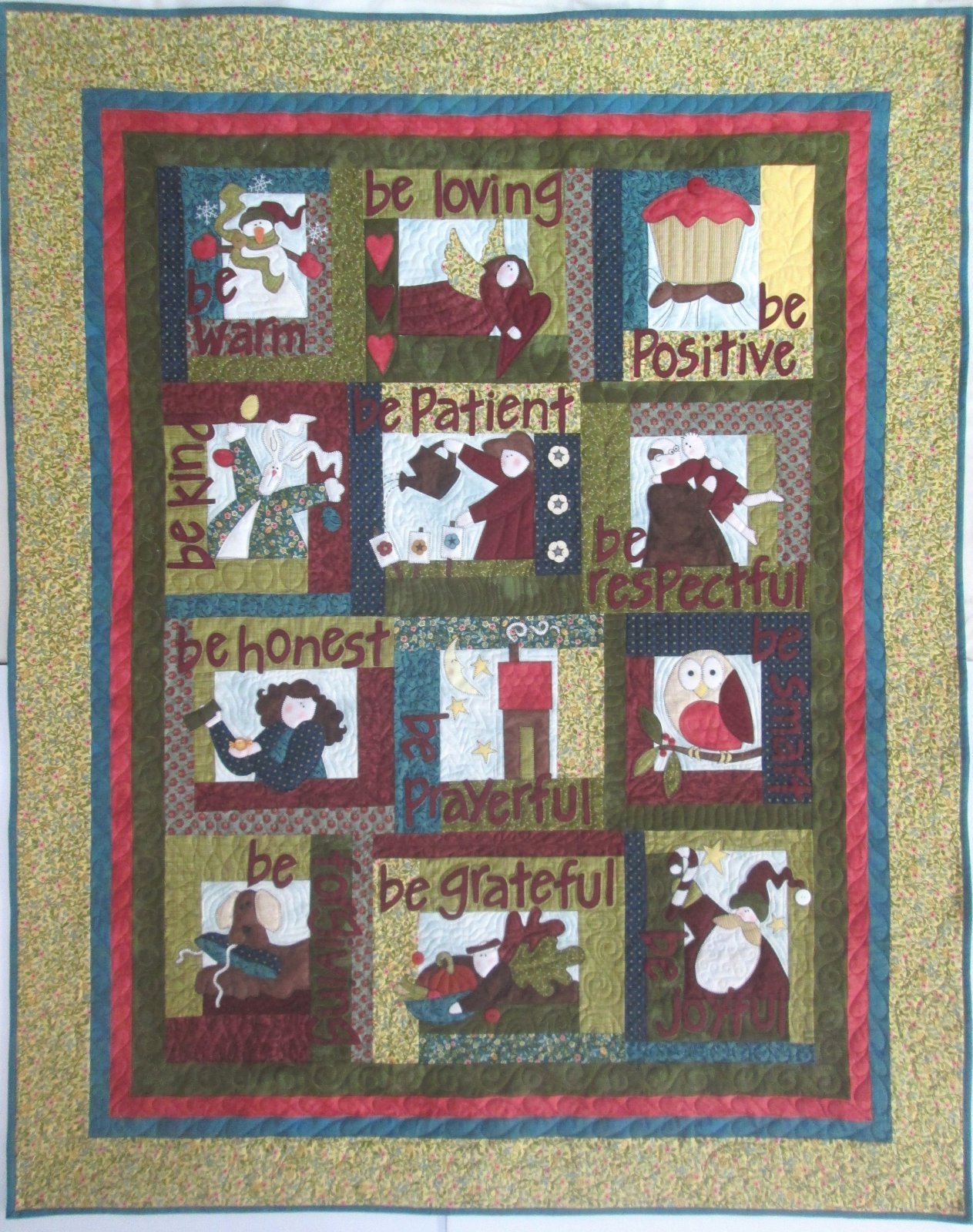 Be Attitudes Quilt Kit includes binding, buttons & book