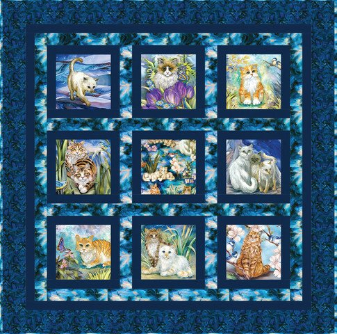 Feline Good Be Pawsitive Quilt KIT