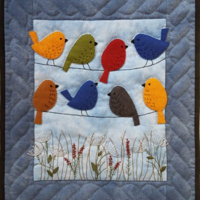 Rachel's of Greenfield Birds On Wires Wall Hanging Kit