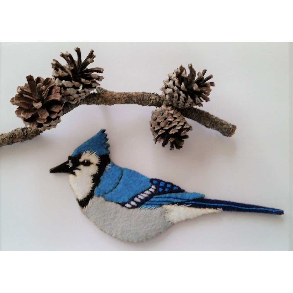 Artsi2 Blue Jay Laser Cut Ornament Kit