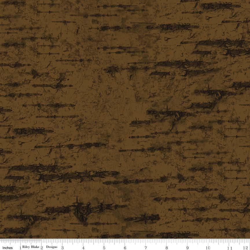 Penny Rose Fabrics Majestic Outdoors C5575-Dark Brown Bark