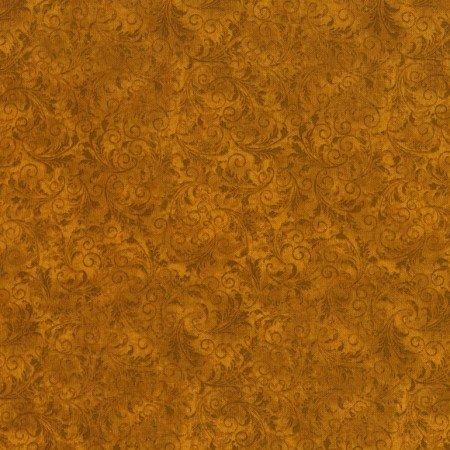 Timeless Treasures Echo C5500-Amber Gold Tonal Filagree
