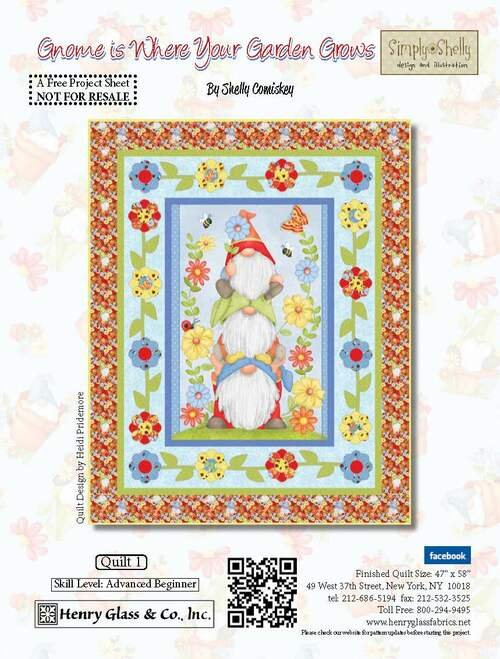 Gnome is Where Your Garden Grows Quilt Kit