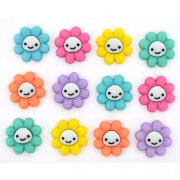 Dress It Up Happy Little Flowers Buttons