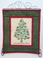Homespun Christmas Tree Sample 12 1/2 x 15 1/2