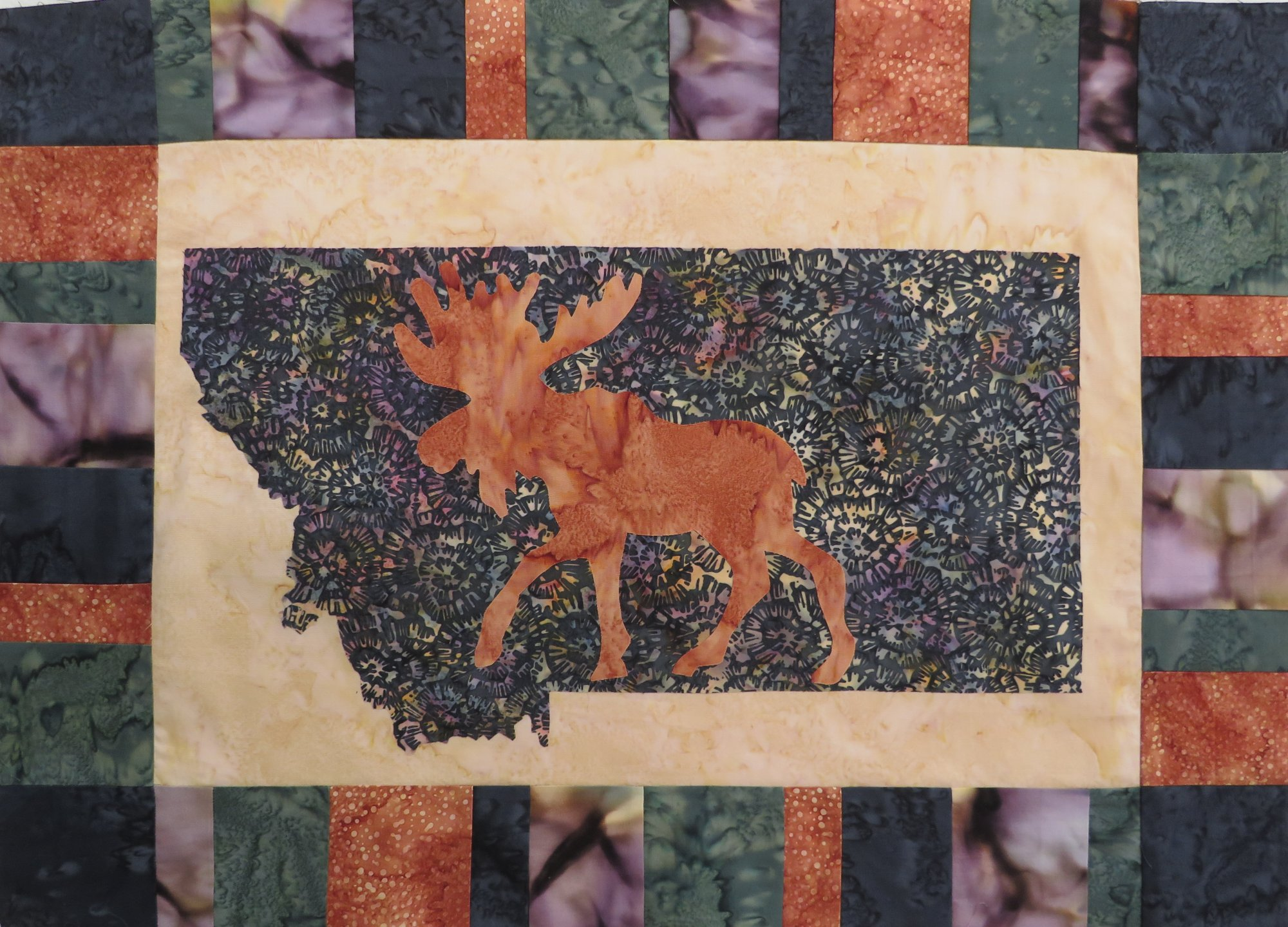 Montana My Heart My Home Moose Wallhanging 18x24'