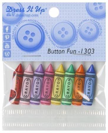 Dress It Up Button Fun 8 crayon buttons 1303