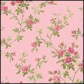 Maywood Poppies MAS8784-P Pink with Flowery Stems Bunny Town